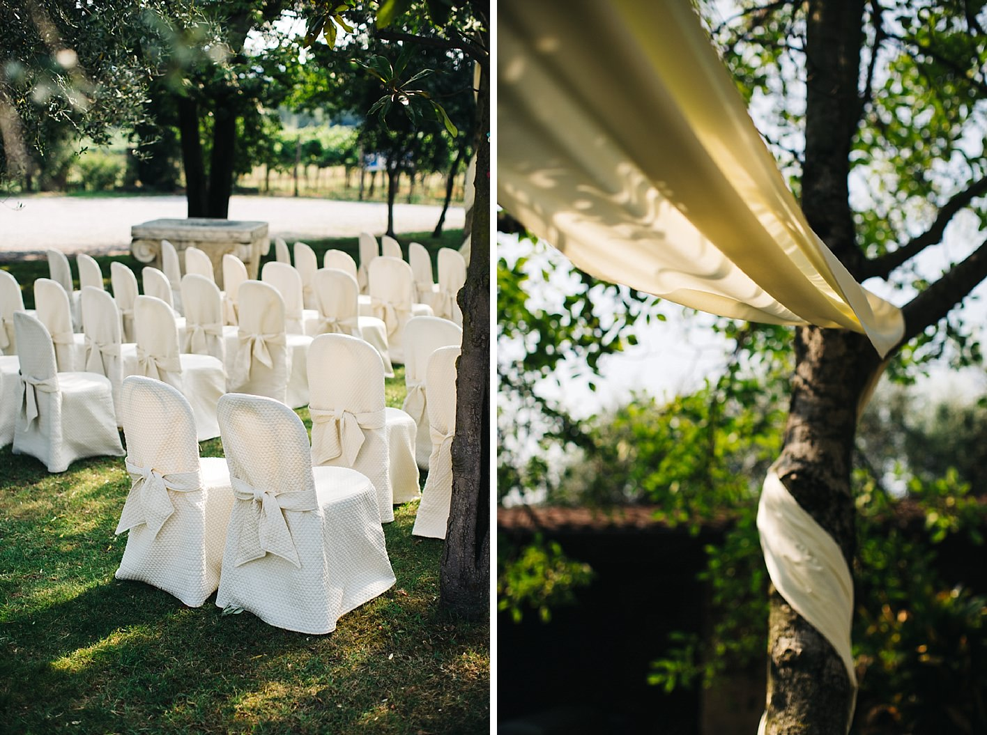 Wedding chairs outside for wedding ceremony