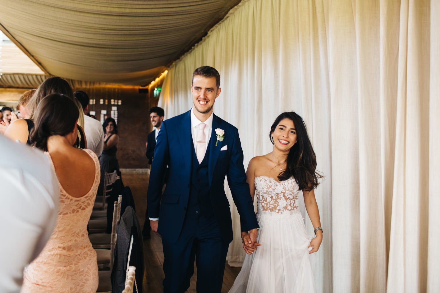 newly weds enter elmore court reception
