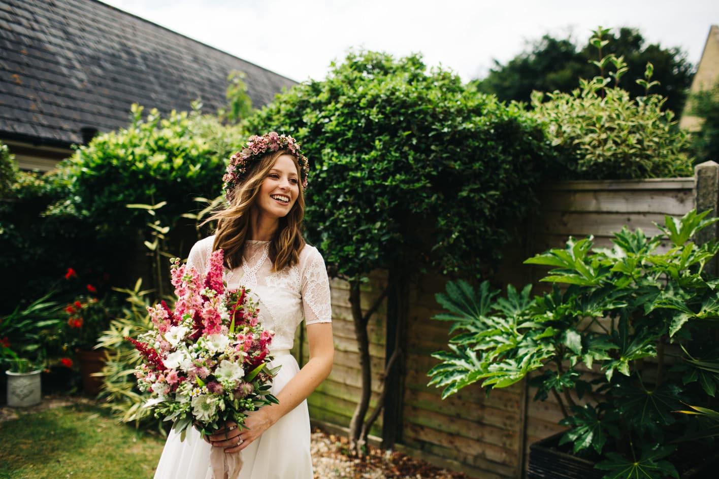 bride portrait in dorchester
