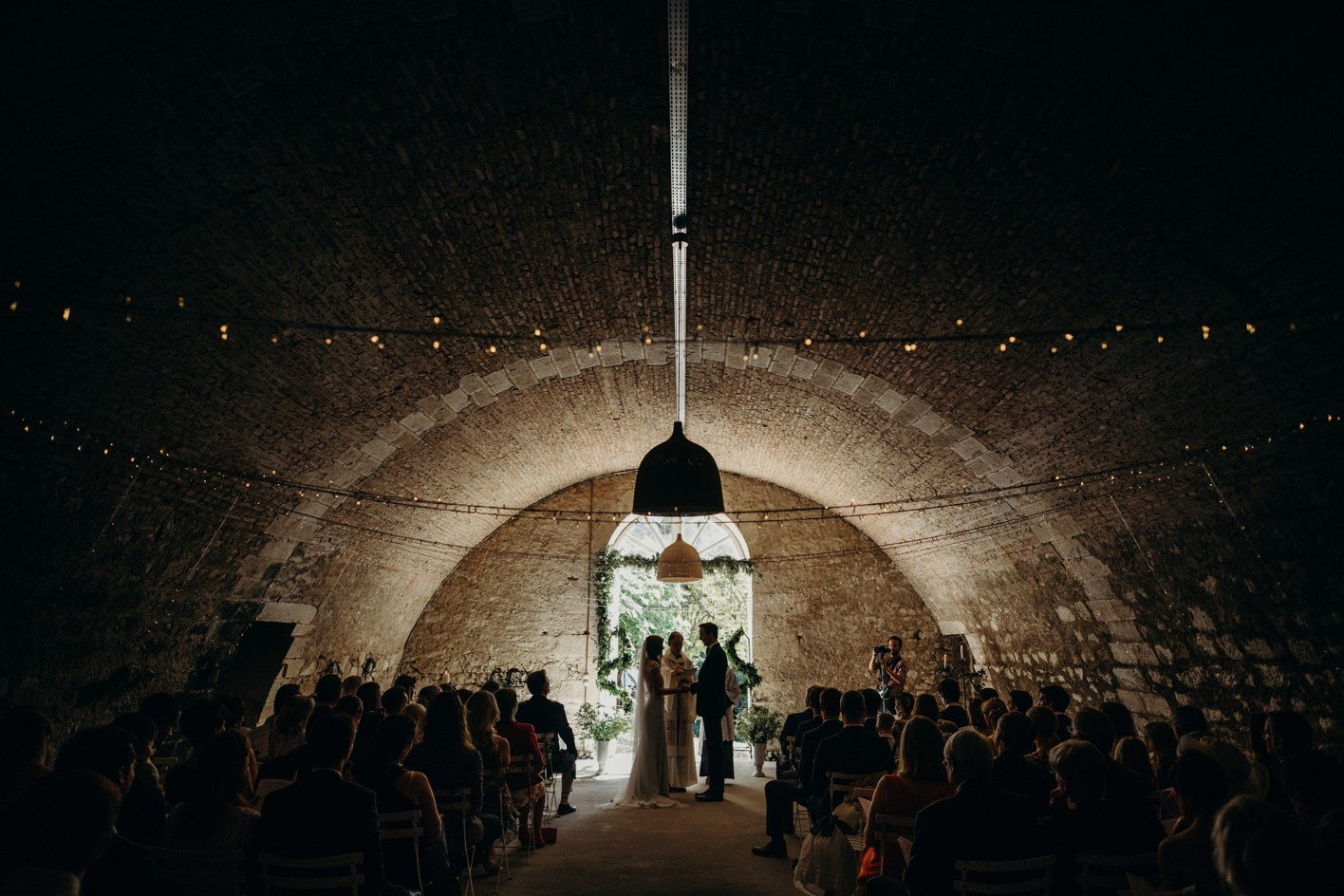 chateau de lartigolle wedding ceremony