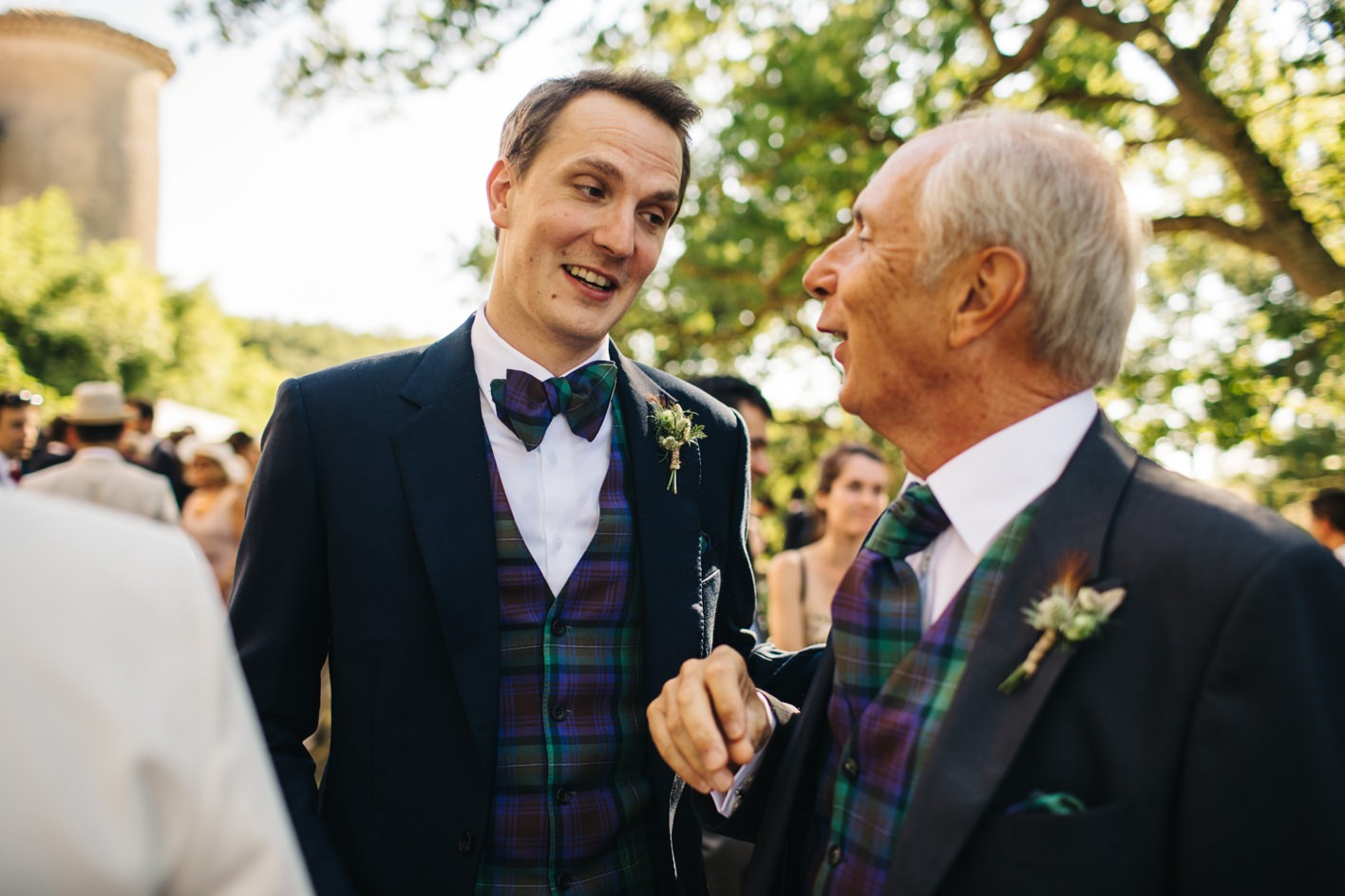groom chats to father