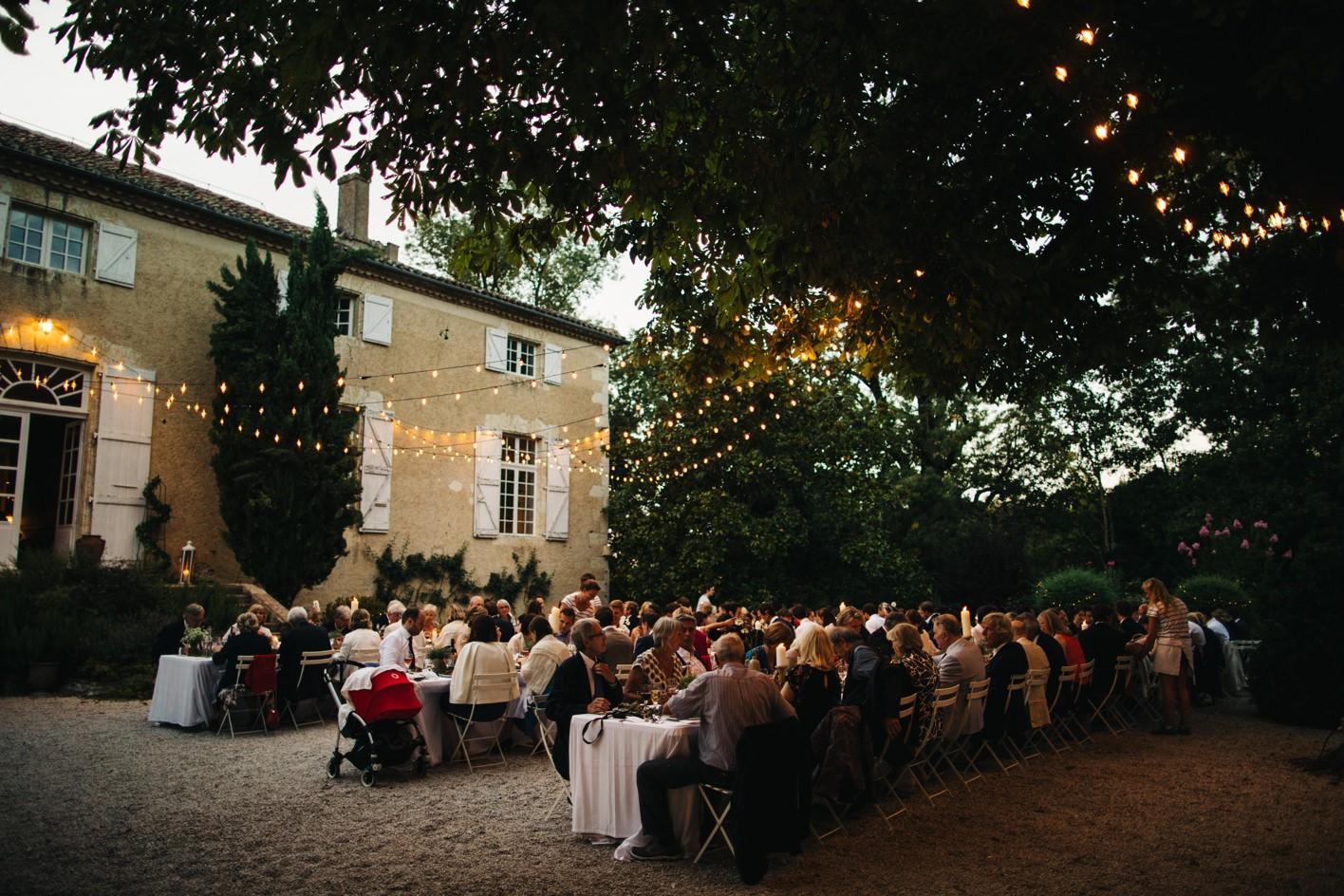 chateau de lartigolle courtyard recption