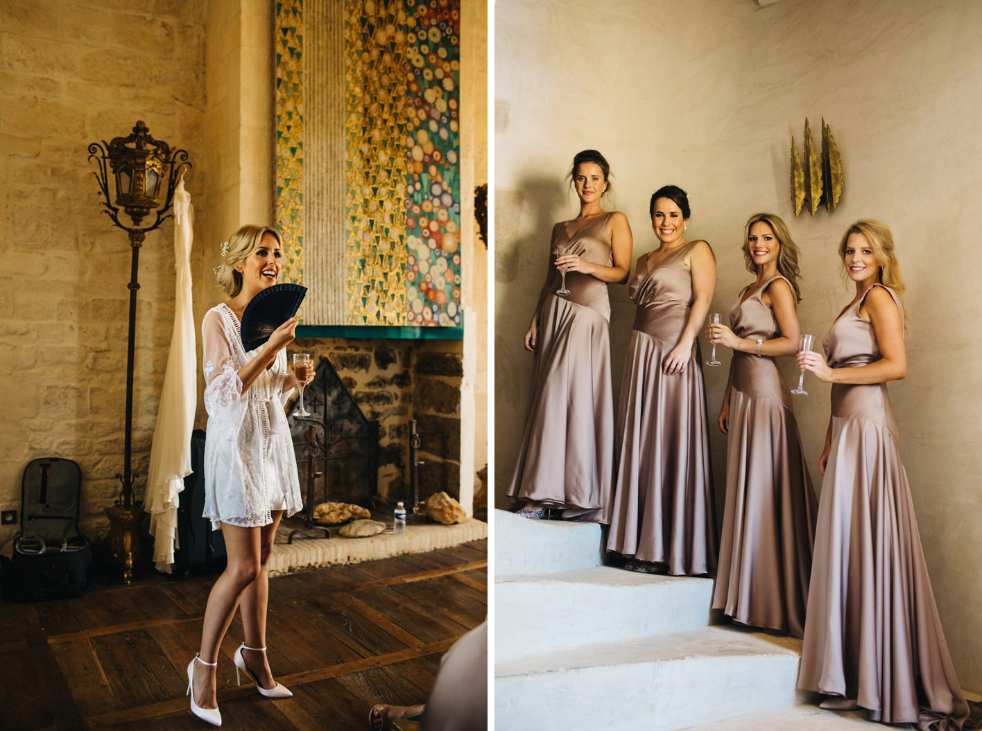 bridesmaids wearing asos dresses
