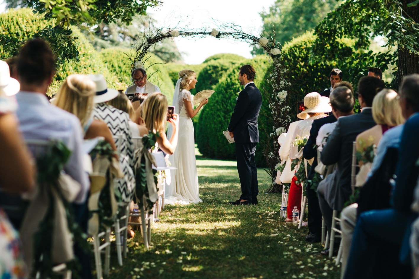 outdoor french wedding