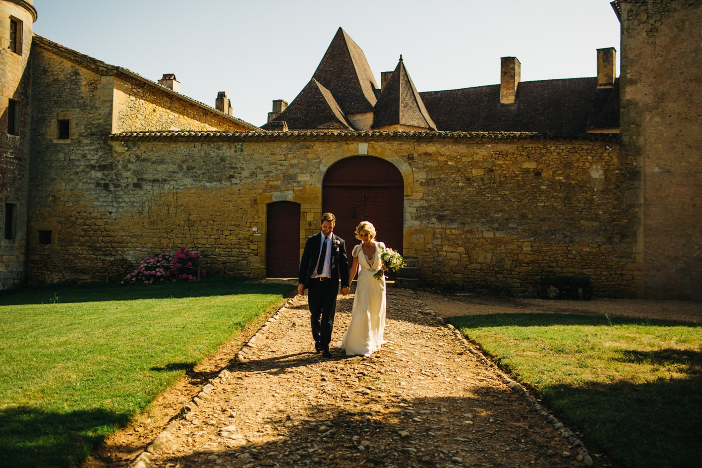 chateau wedding portrait