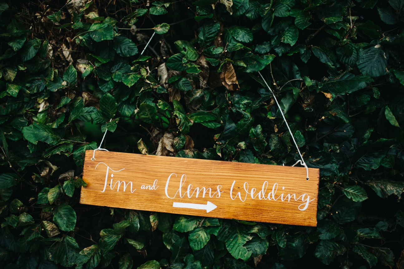 Rustic Wedding sign hanging
