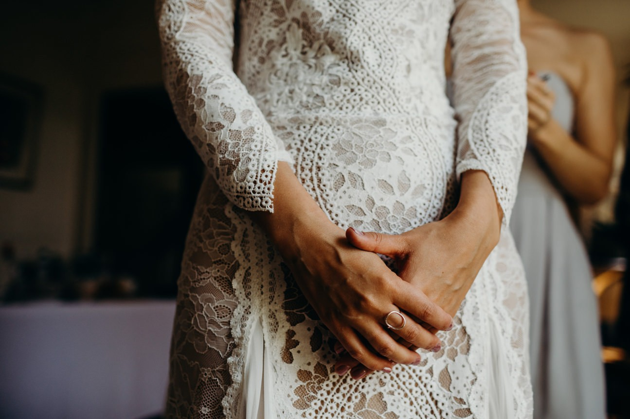 lace dress detail