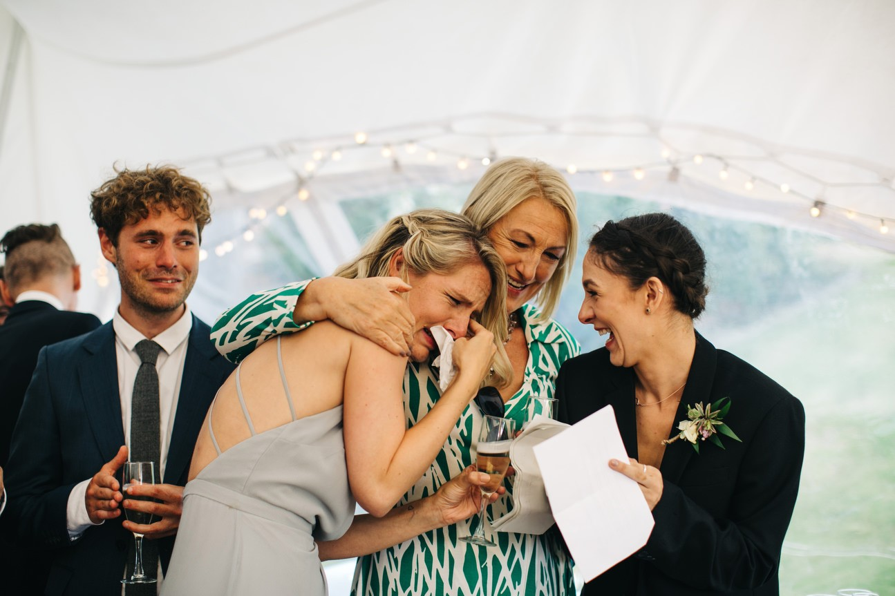 bridesmaid cry during speeches