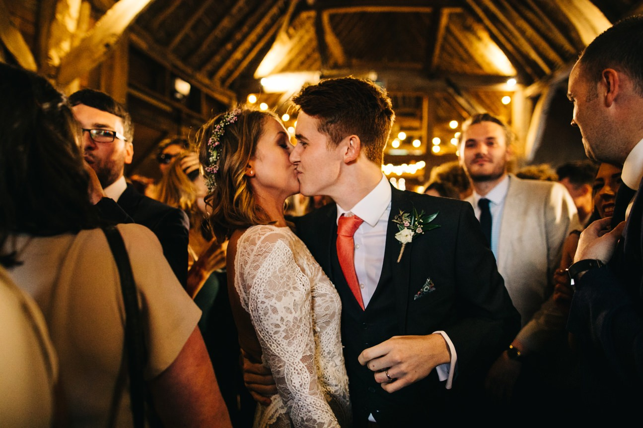couple kiss during first dance