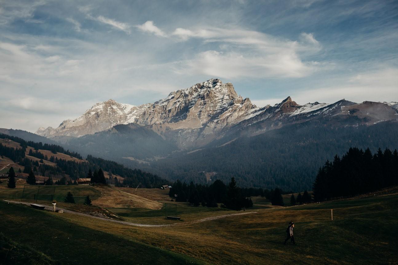 Chaux Ronde Mountain in Switzerland