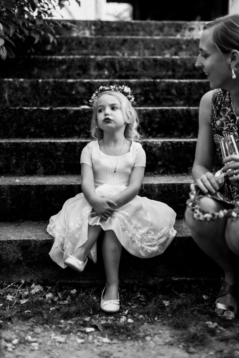 flower girl at wedding