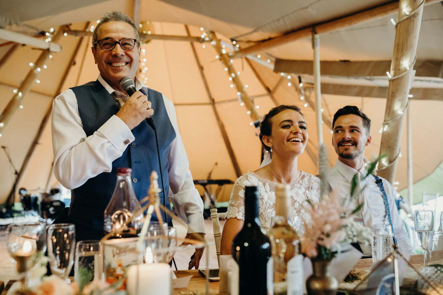Tipi wedding speeches
