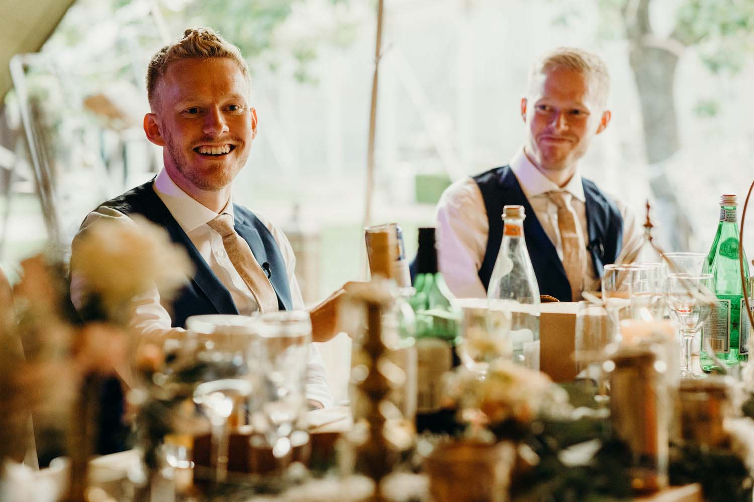 Brothers of Groom at tipi wedding