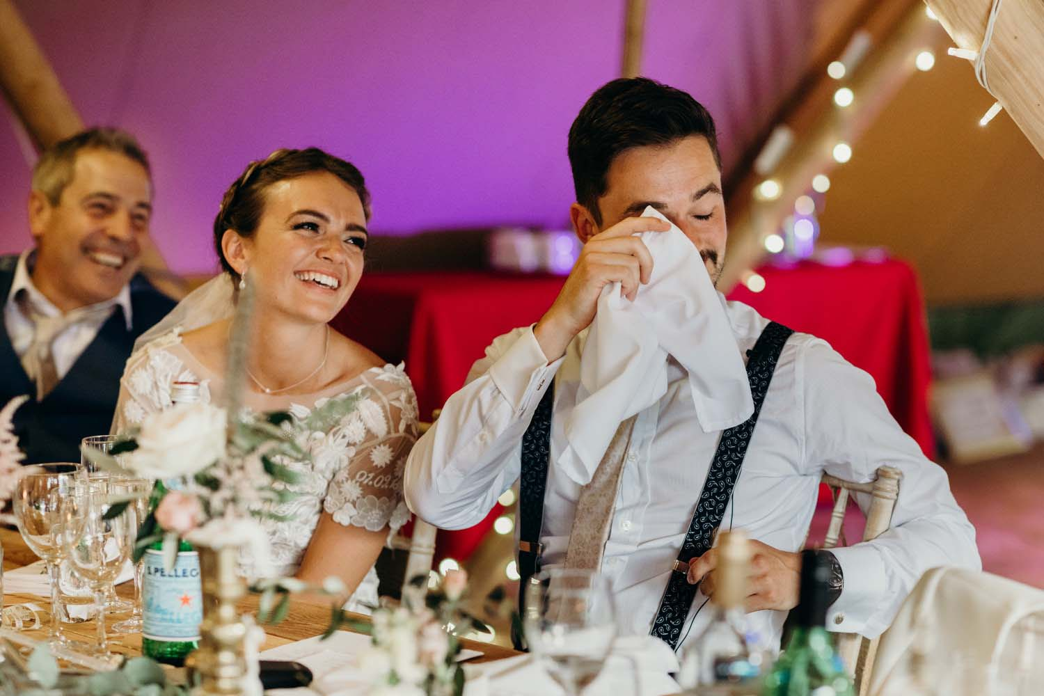 Groom Crying during speeches