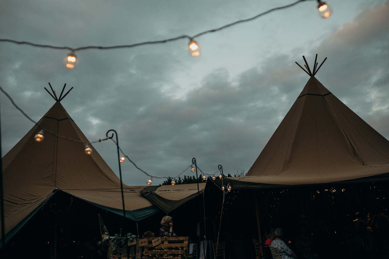 Tipi Wedding At Sunset