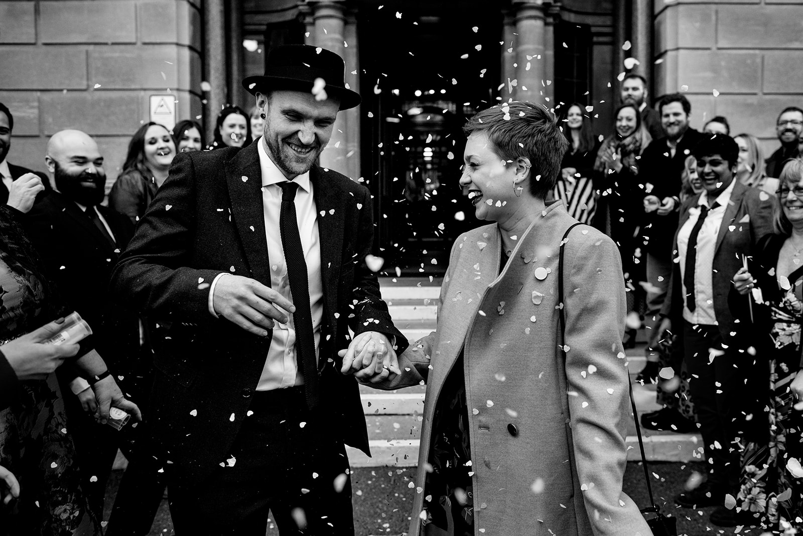 Confetti photograph at Bournemouth town hall