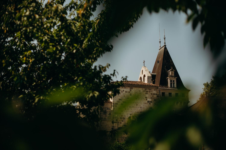 turrets of chateau de lisse