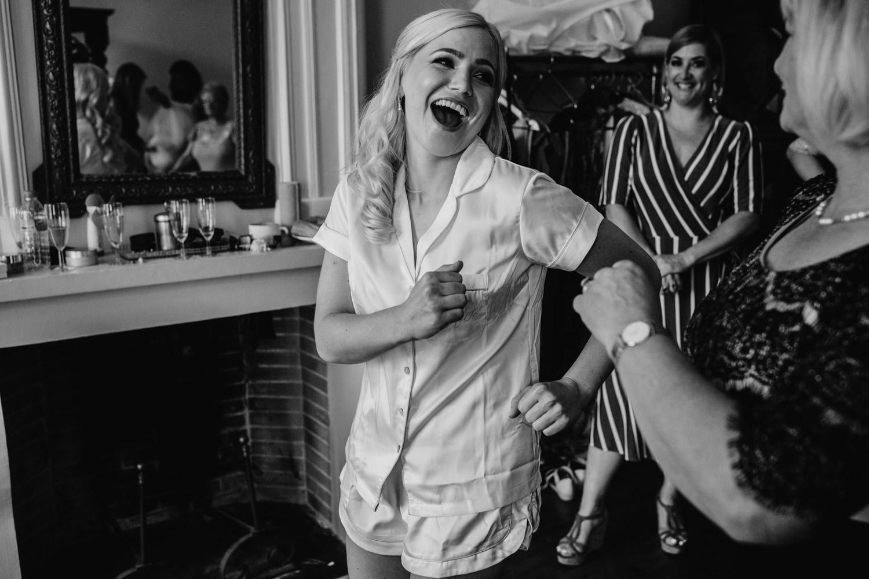 bride dances before getting married