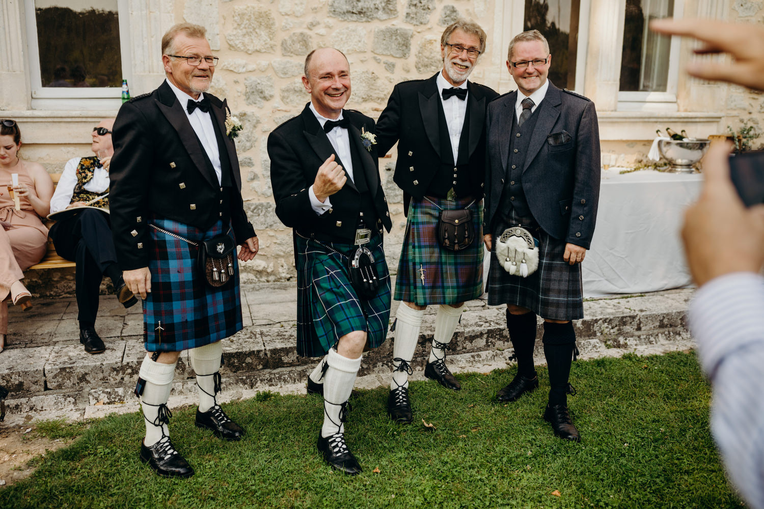 kilts at french wedding