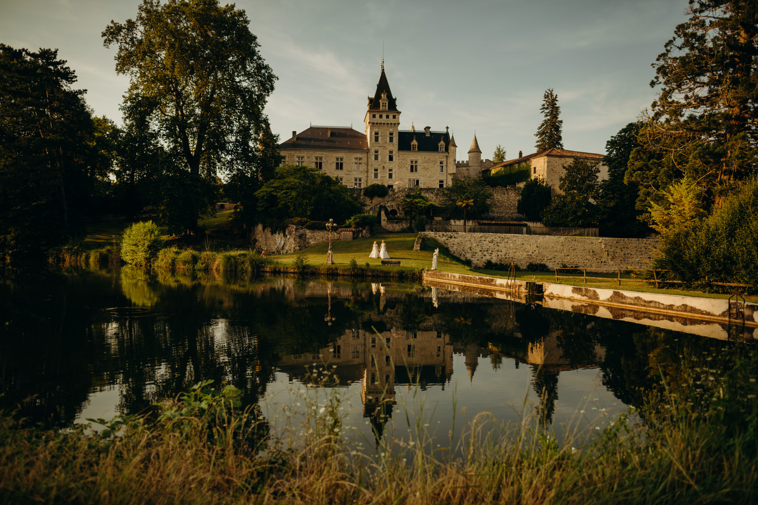 chateau de lisse wedding portrait