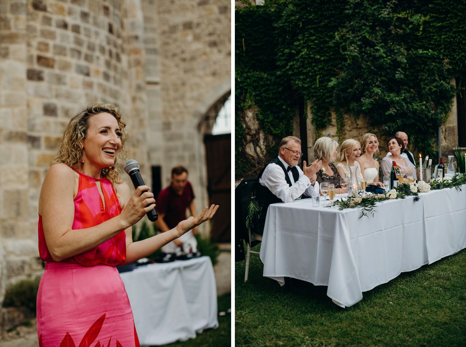 mc starts wedding speeches