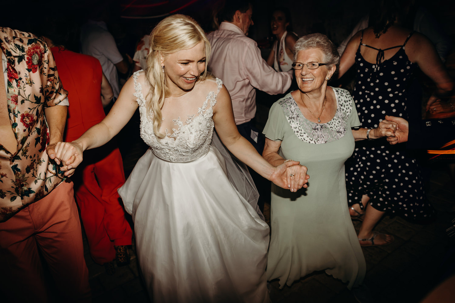bride dancing with grandmother