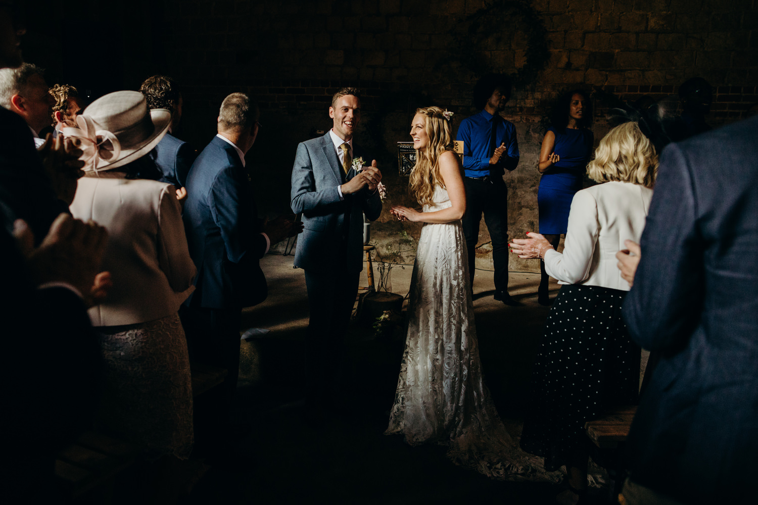 wiltshire barn wedding ceremony