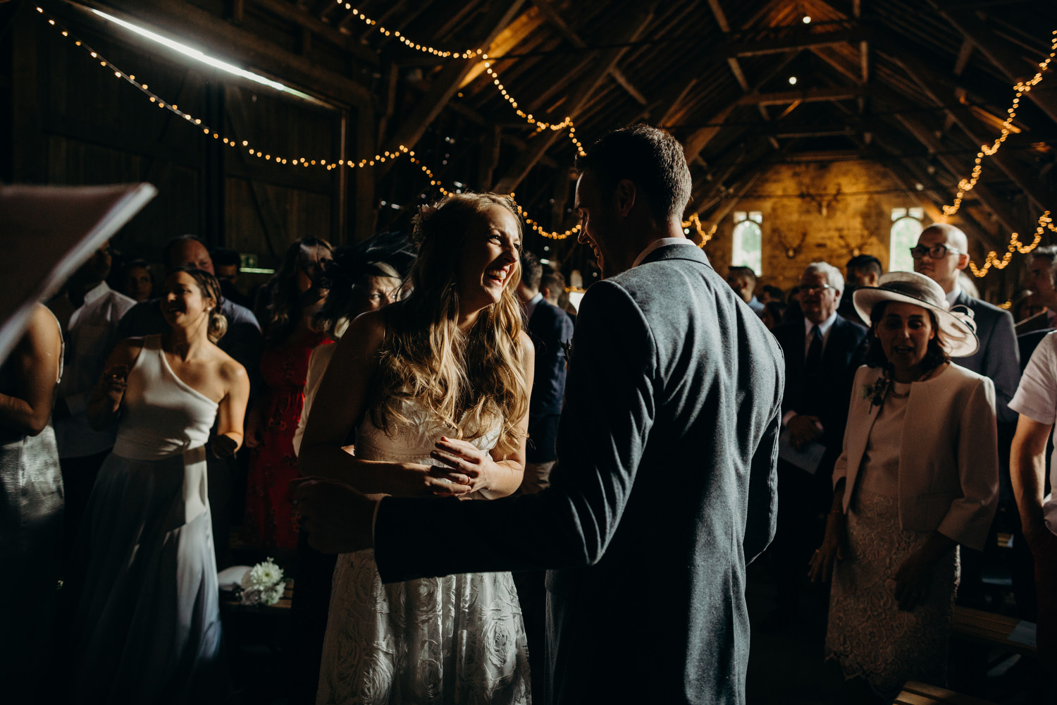 wick bottom barn ceremony