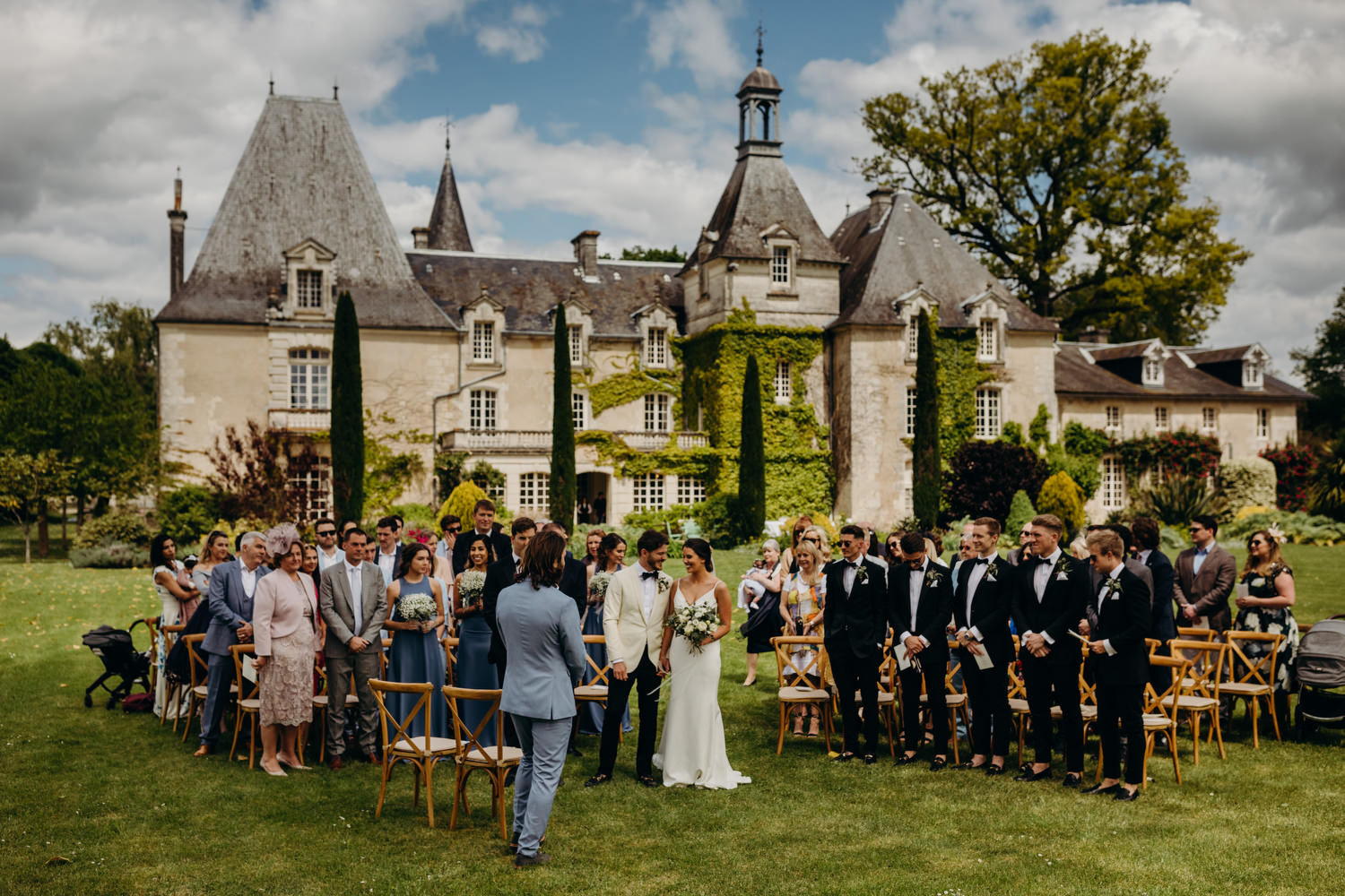 le mas de montet wedding ceremony