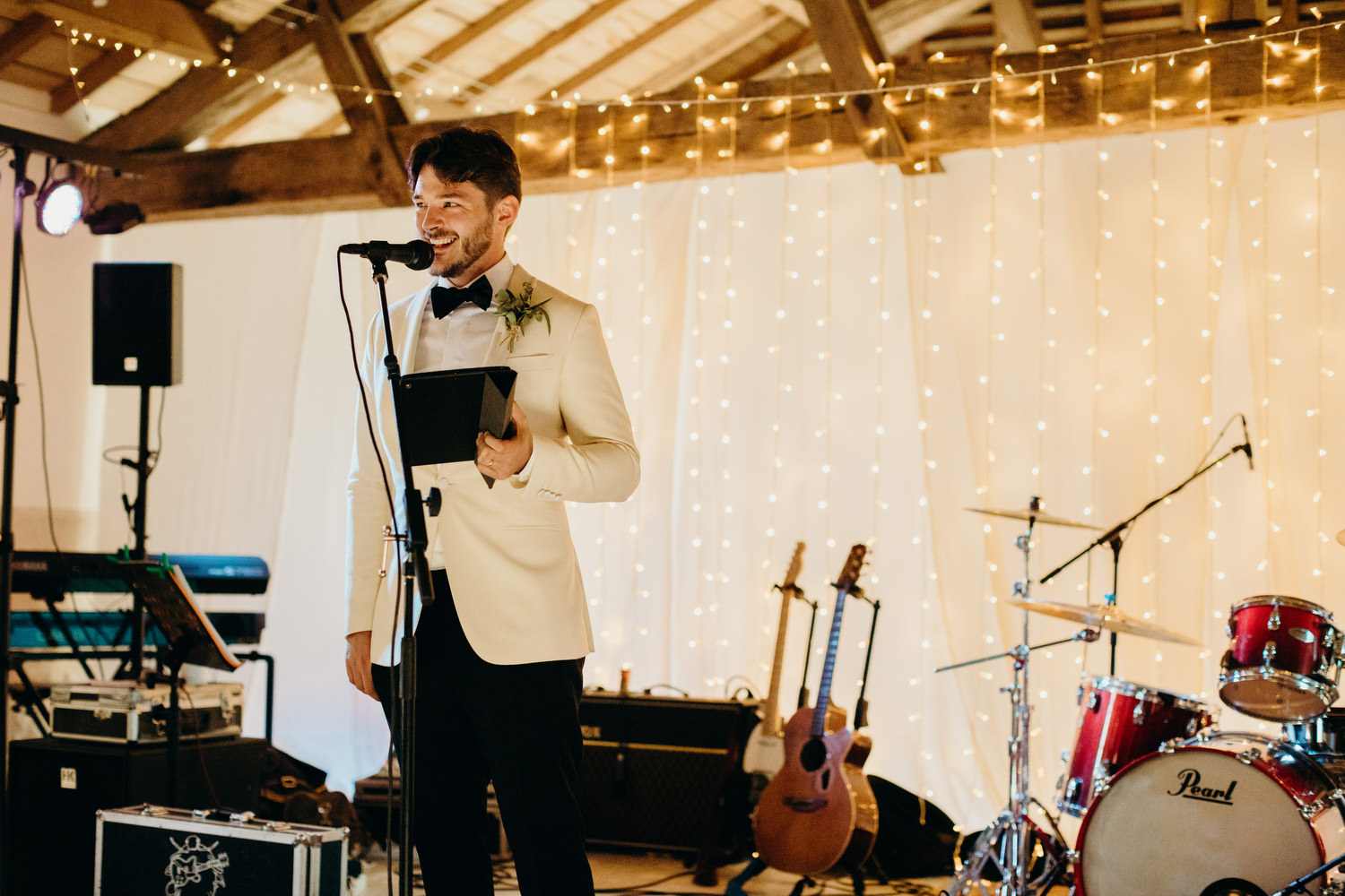 Groom speech at le mas de montet