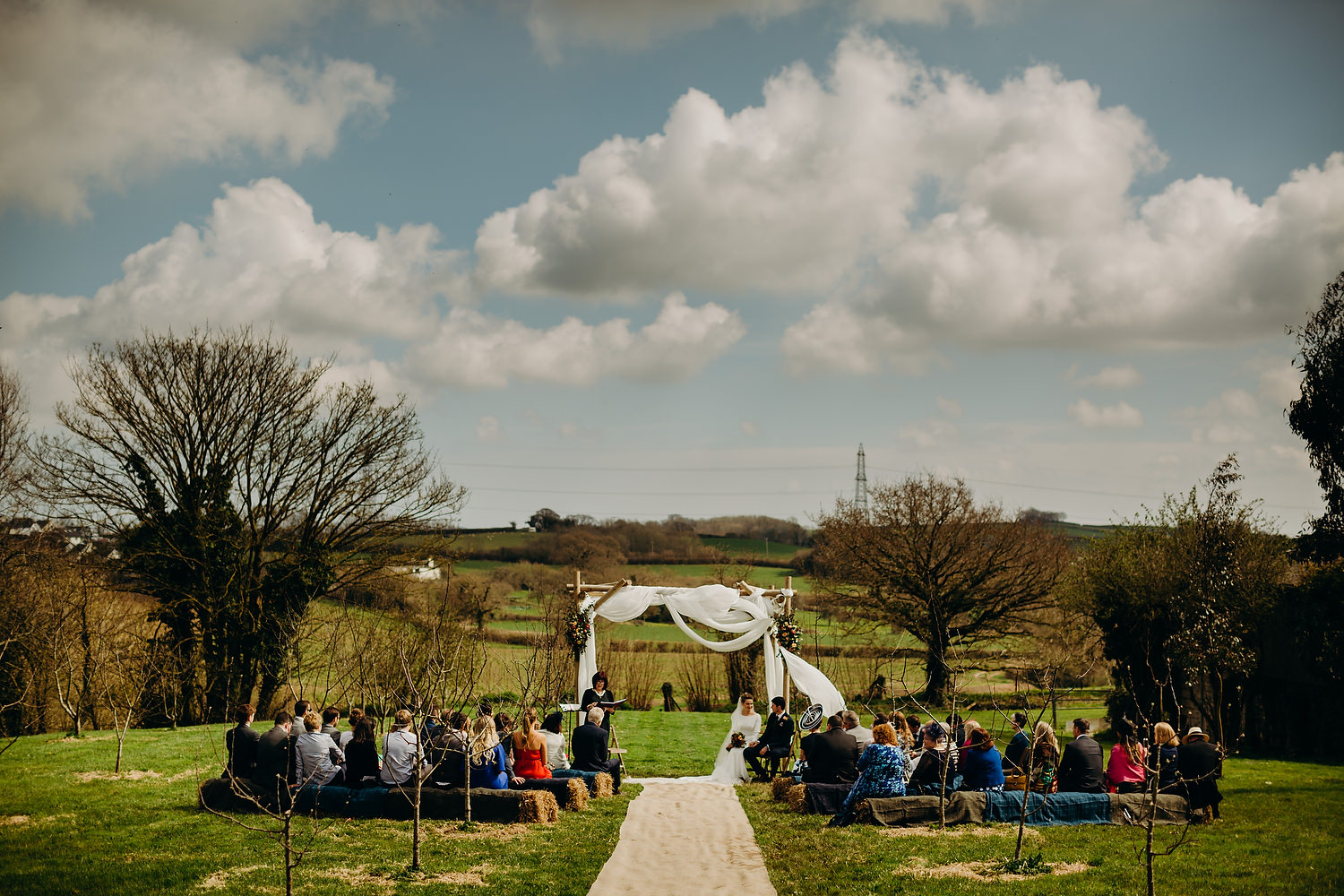 An outdoor wedding at Anran