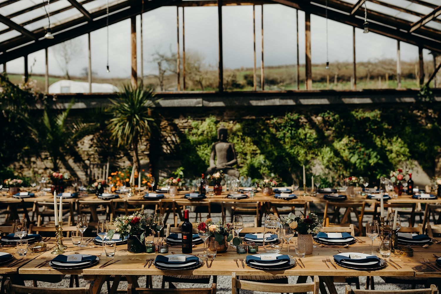 rustic glasshouse wedding