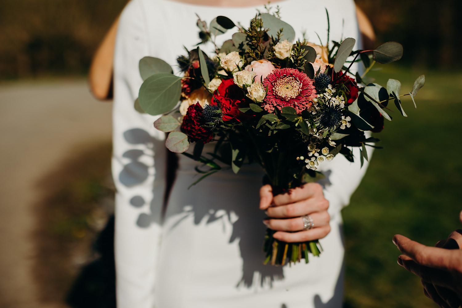Lily Buff wedding bouquet