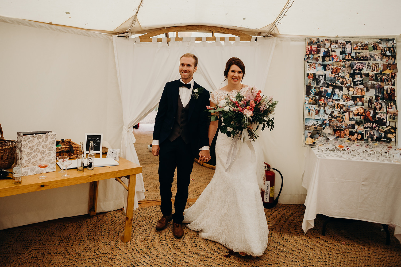 bride and groom at Malvern wedding