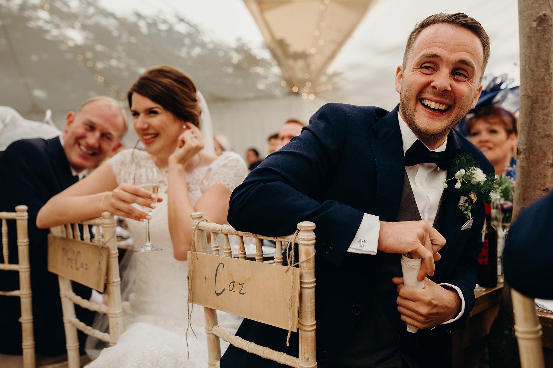 garden marquee wedding speeches
