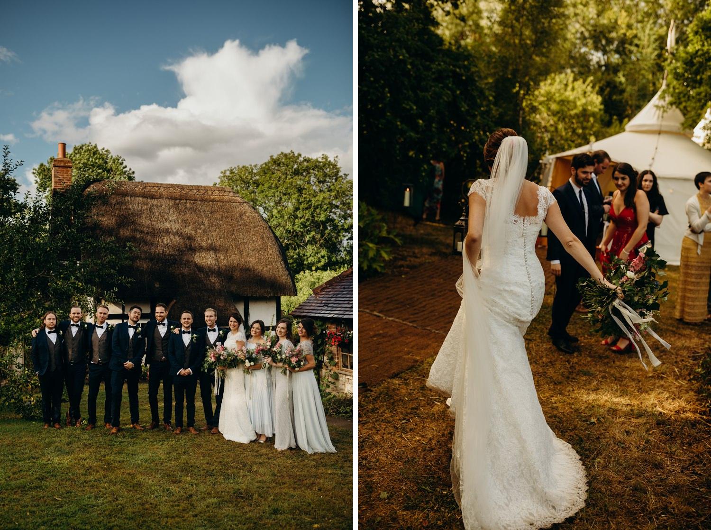 Garden wedding in Malvern
