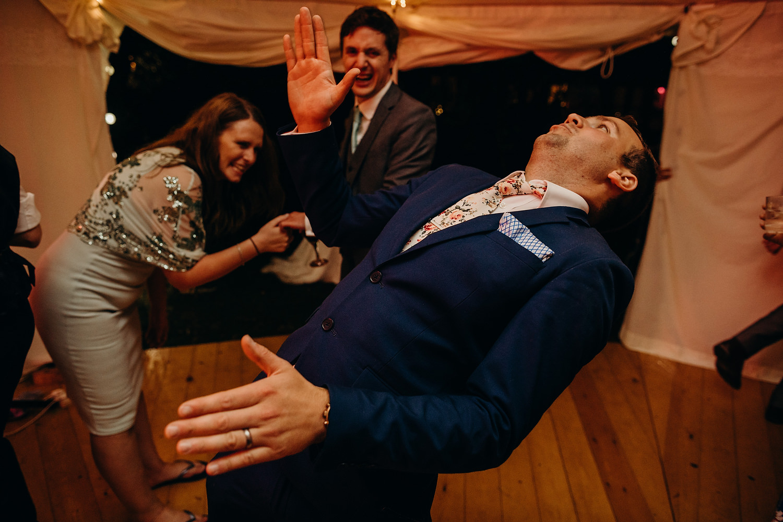 Robot dance at wedding