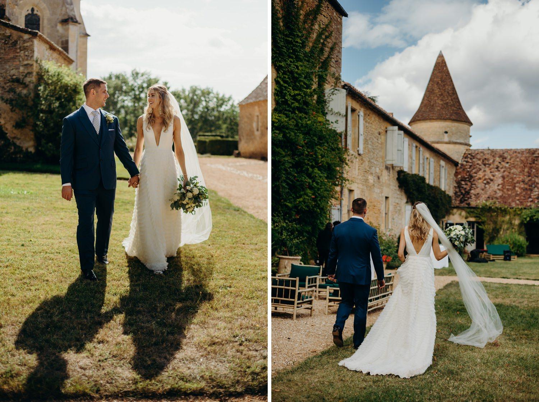 Portraits at Chateau wedding