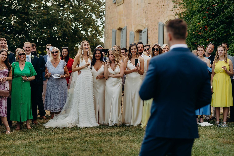 outdoor wedding speeches