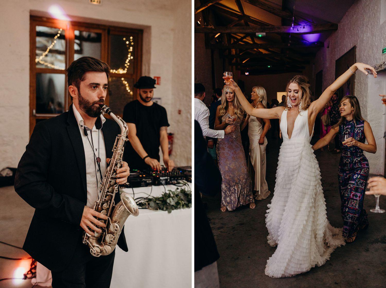 chateau wedding party