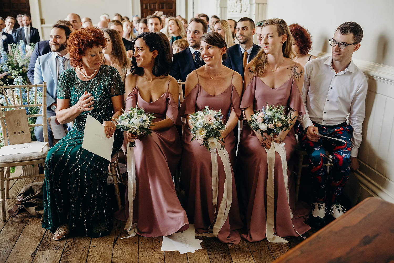 Bridesmaids getting emotional