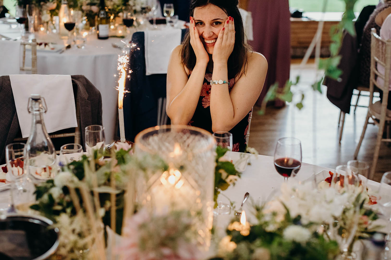 birthday girl at wedding