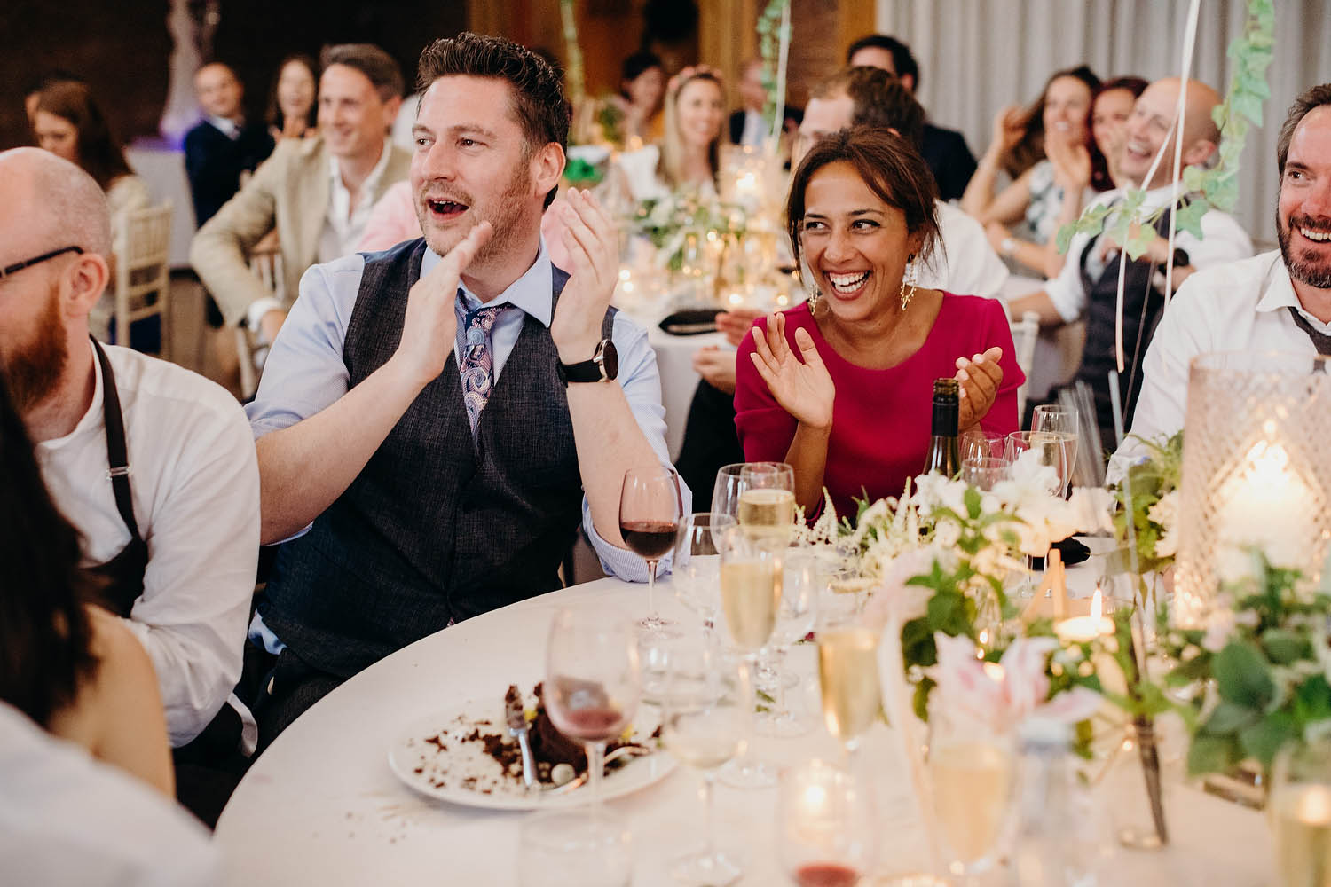 guests clapping speeches