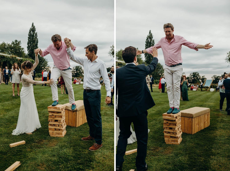 wedding jenga of sorts