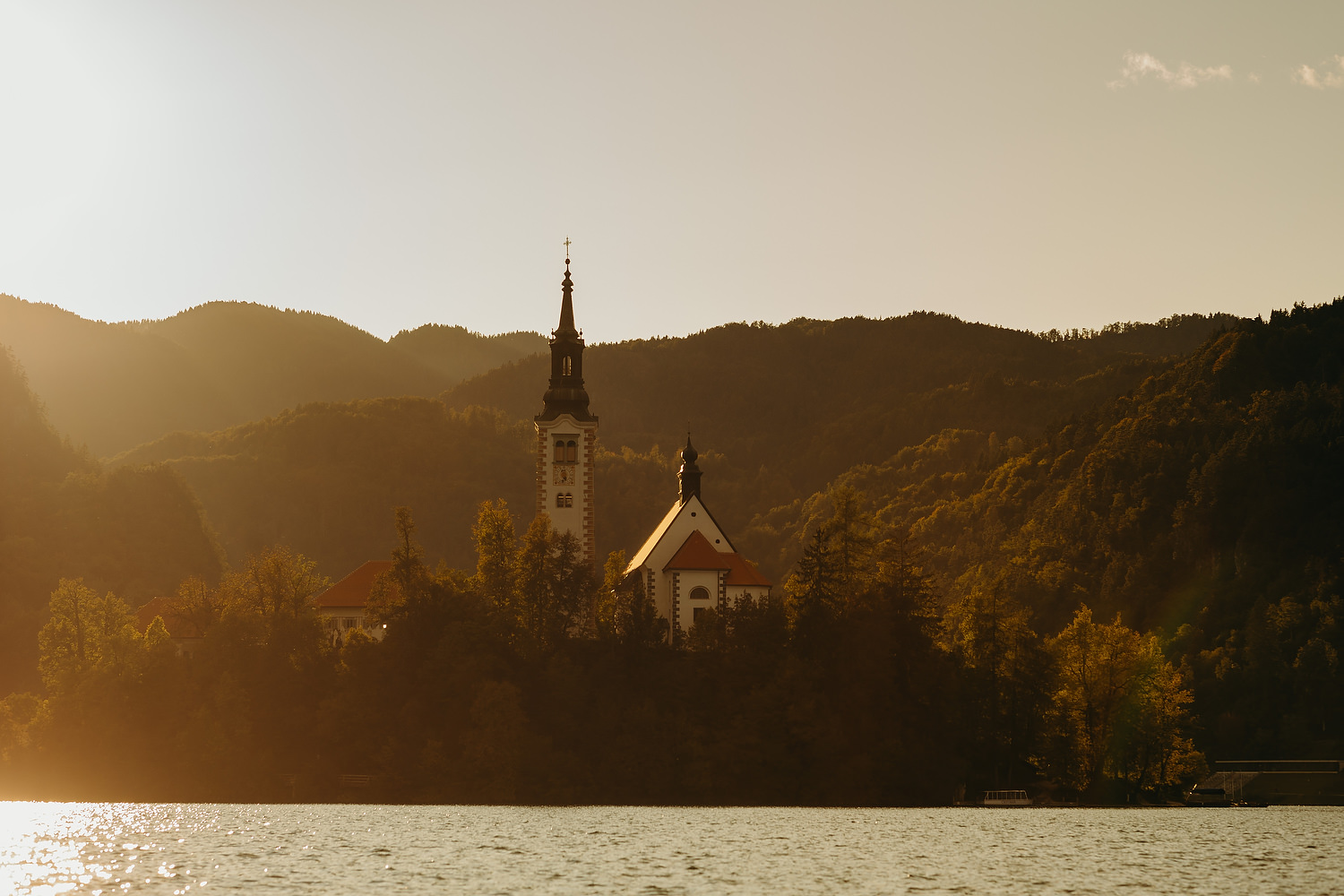 Sunrise over Bled Island