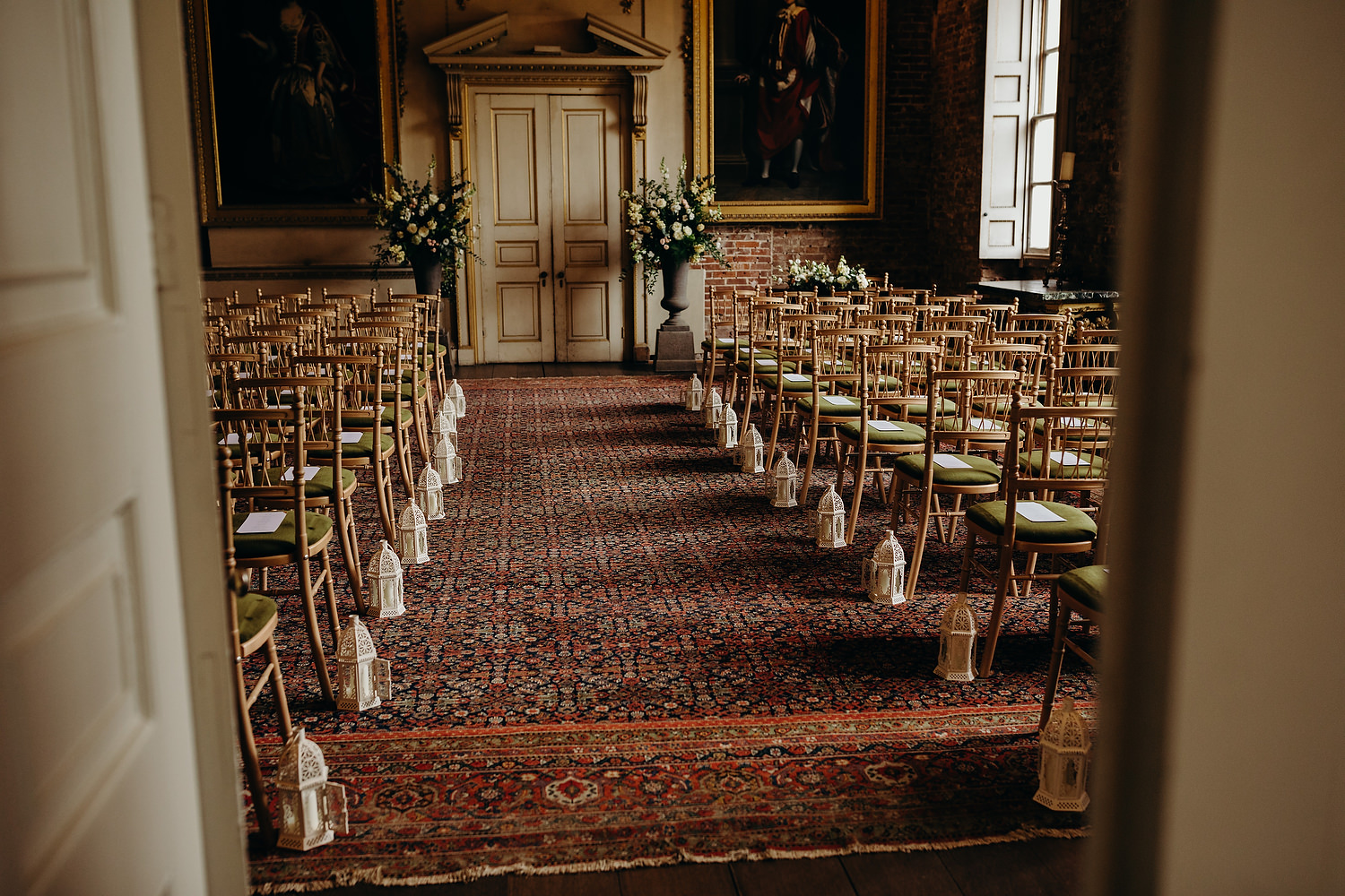 Indoor ceremony room at St Giles House