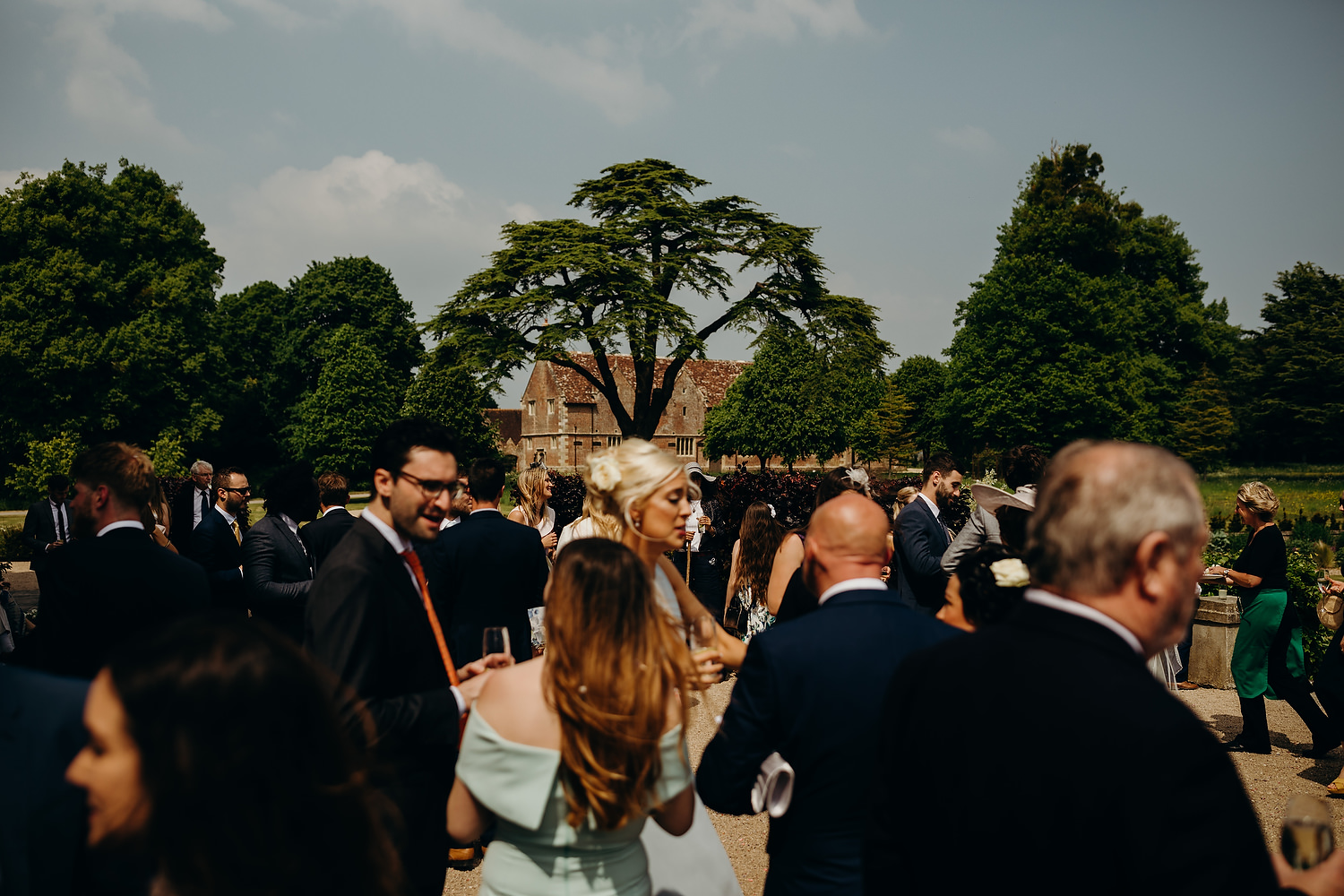 drinks reception at St Giles House wedding