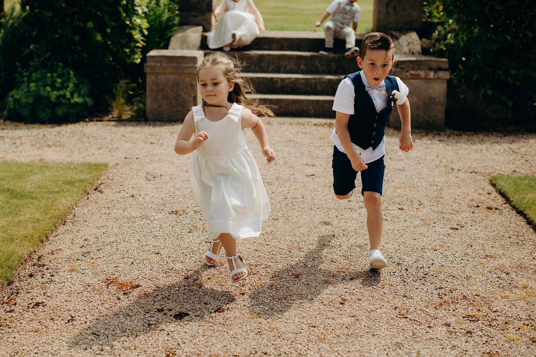 kids running towards camera