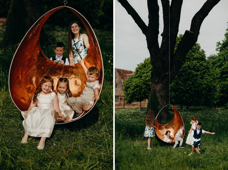 Giant swing under Cedar tree