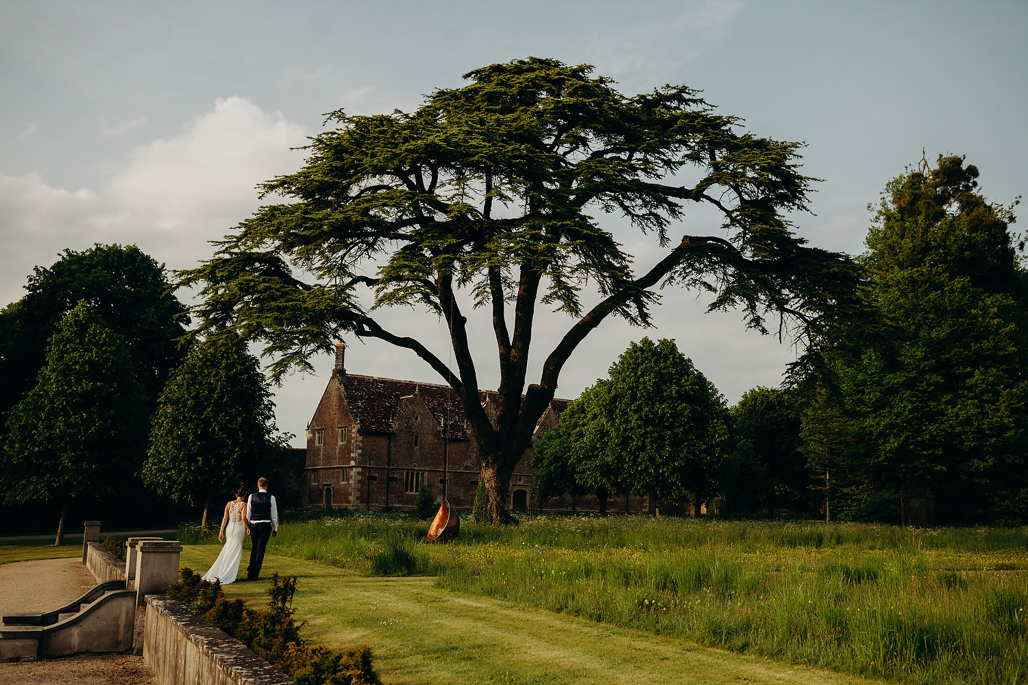 bride and groom at St Giles House Wedding